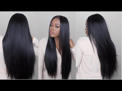 Watch Me Slay This Wig From Start To Finish | Sleek Straight Long Hair