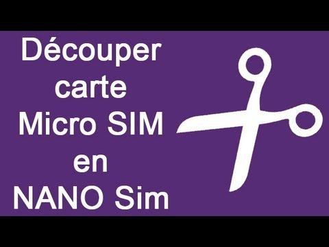 ✄ Découper carte Micro SIM en NANO Sim - tutoriel - iPhone 5 - 5S - 5C / HTC - 6 - 6S