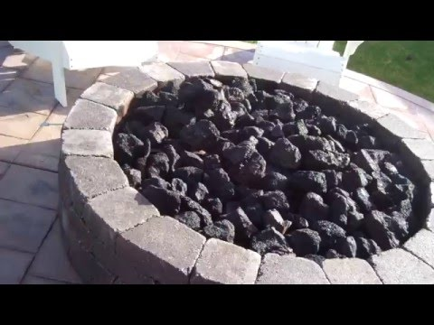 PE gas pipe install and outdoor firepit DIY (Part 2 of 2)