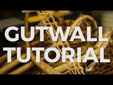 How to string a Gutwall in a Wood Lacrosse Stick