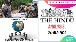 24-Mar-2020   The Hindu Newspaper Analysis   Current Affairs for UPSC 2020/2021   Saurabh Pandey