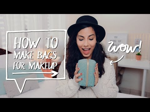 DIY MAKEUP BAG + DIY PENCIL CASE ✨How to make DIY Bags  | Easy Sewing Projects for Back to School