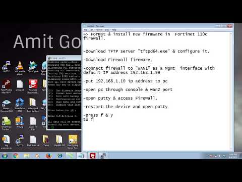 Fortinet  firewall 110C  firmware installation