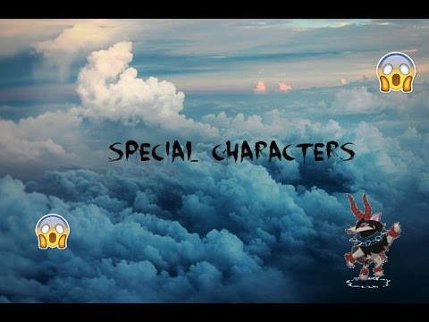 How to add special characters to your username | BuhWere AJ