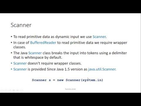 Java IO Scanner