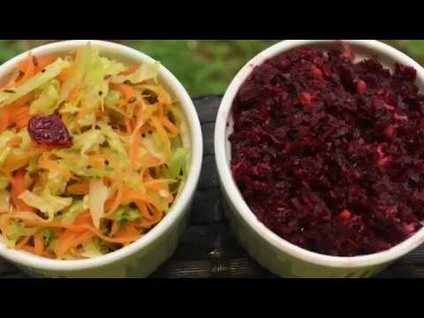 Beetroot Fry / Poriyal   Carrot and Cabbage Fry / Poriyal