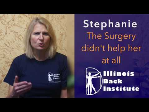 A Herniated Disc and Sciatica was causing Stephanie to have Chronic Back Pain