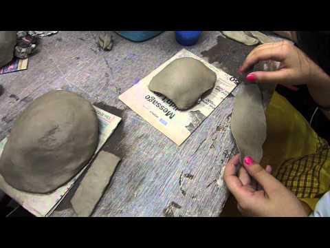 Making an egyptian mask - Clay Craft Malaysia
