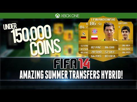 AMAZING SUMMER TRANSFERS HYBRID for UNDER 150k! FIFA 14 Squad Builder #103