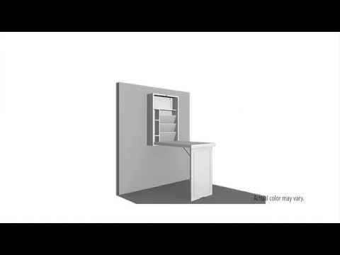HO9291R: Fold-Out Convertible Desk - Black Assembly Video