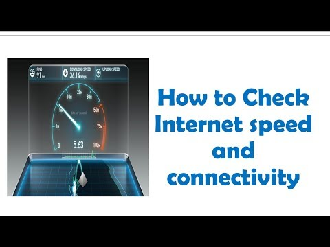 How to check internet speed and connectivity