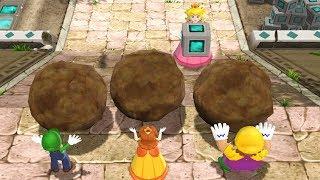 Mario Party 9 Step It Up - 1 vs. Rivals - Peach vs Team Luigi, Daisy, Wario| Cartoons Mee