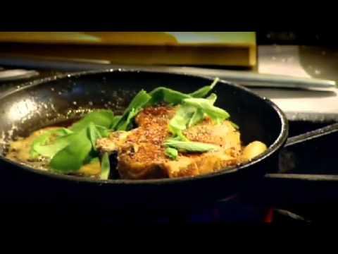 Pan Roasted Pork Chops with Radicchio and Apples - Gordon Ramsay