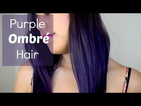 How to Dye Your Hair Purple Ombre (No Bleach)