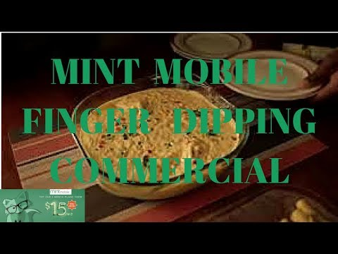 Mint Mobile commercial Finger Dipping? That's not right MVNO Mint Sim