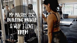 My Macros/Calories for Building Muscle & Why They Work For Me