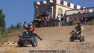 BARBIE JEEP RACING OFF CASTLE MOUNTAIN!