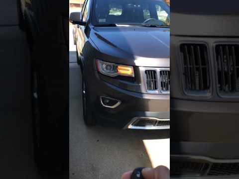 How to turn off beep lock/unlock sound on 2014 jeep Grand Cherokee