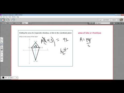 Finding the area of a trapezoid, rhombus, or kite in the coordinate plane