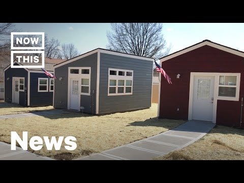A Tiny Home Village Was Built for Homeless Veterans in Kansas City | NowThis