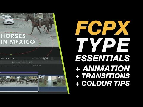 Final Cut Pro X: Adding Type + Modifying & Animate your Titles Beginner Tutorial