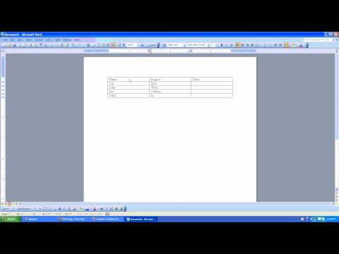 How to use Auto Format for tables in Microsoft Word 2003