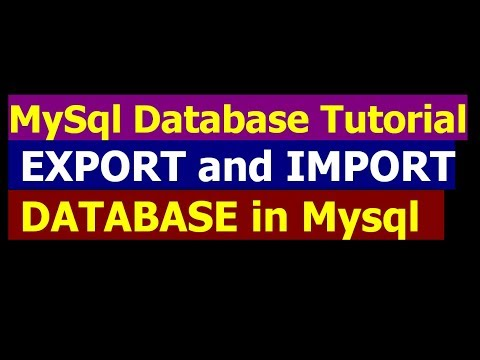 How To Import and Export Databse In Mysql - MySql Database Bangla Tutorial Part 9