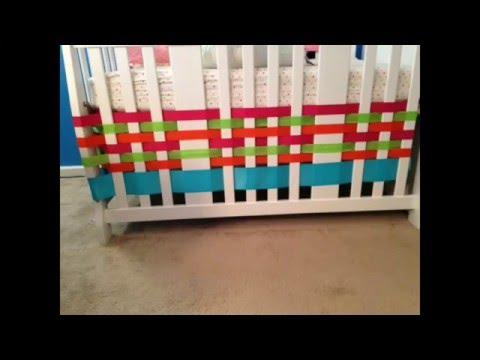 DIY Ribbon Crib Skirt
