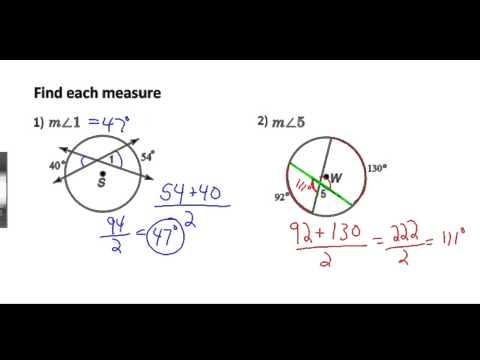 Secants, Tangents, and Angle Measures