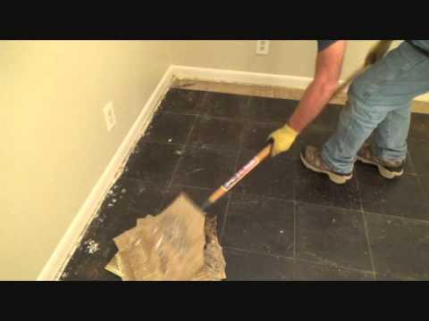 How to remove vinyl floor tiles with a floor scraper