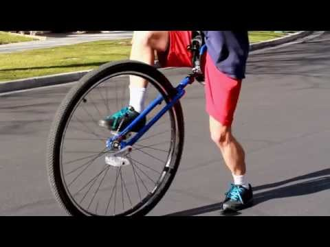 How to Mount the Big Wheel Unicycle