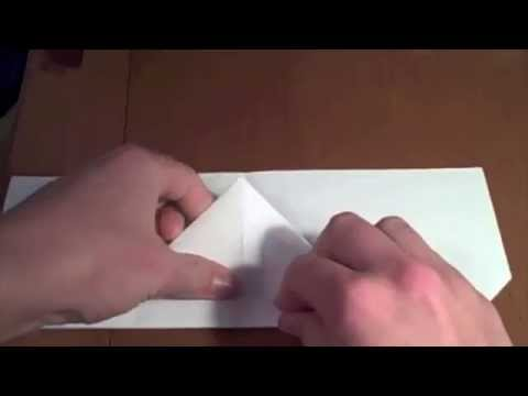 How to make the wide wing paper airplane