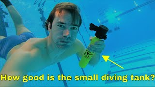 How far can you swim with a 0.5L scuba diving tank?  Baywatch diving tank test