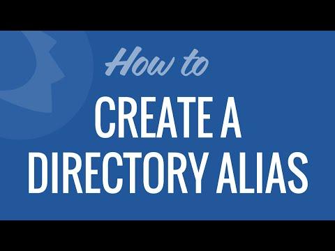Create a Directory Alias