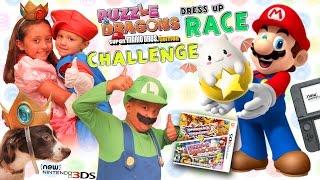 FGTEEV COSTUME CHALLENGE!! Nintendo Puzzle & Dragons Super Mario Bros Edition Gameplay w/ Dancing