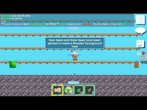 Growtopia - How to make wooden background seed !!