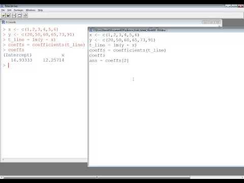 R Language 3.1.1 - Statistics - Predictions Based on Linear Regression Model