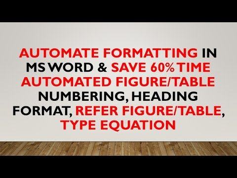 Shortcut for formatting in Ms Word document for Journals, Papers, Magazine etc