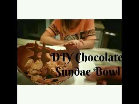 How to Make a Chocolate Sundae Bowl - OurHouse DIY