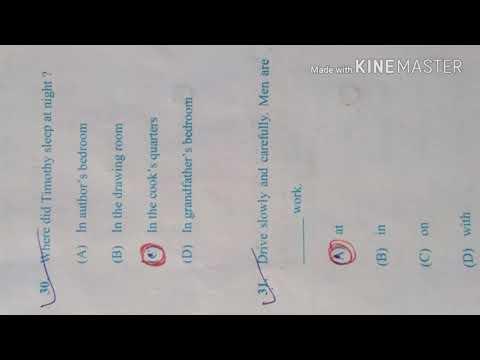 10th Class English (SLE) Expected Answer key BSE ODISHA