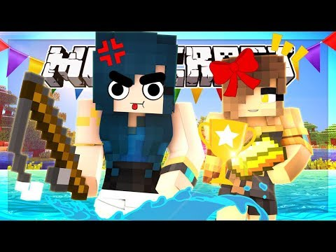 THIS GAME IS TO SAVAGE FOR ME!! FISHING FOR GOLD! | Minecraft Mini-game