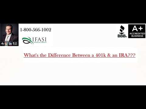 Whats the Difference Between a 401k and an IRA - Difference Between a 401k and an IRA