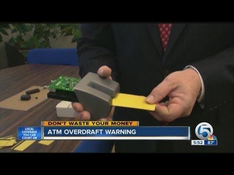 ATM overdraft warning