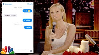 First Textual Experience with Gwyneth Paltrow