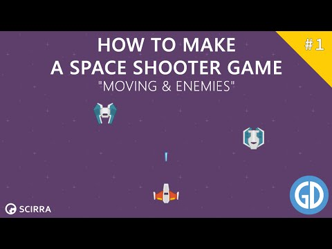 1. Creating A Space Shooter Game (Moving & Enemies) Construct 2 Tutorial