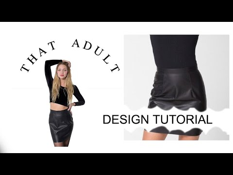 DIY American Apparel Inspired Power Mini Skirt (Sewing) [EASY]
