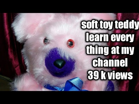 (Part 2)Learn to make soft toy teddy bear at home easily