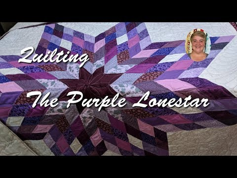 Quilting the Purple Lonestar