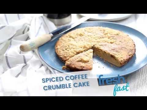 FreshFast Spiced Coffee Crumble Cake