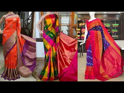 Latest Pochampally Ikkat Saree Designs With Contact Number - She Fashion
